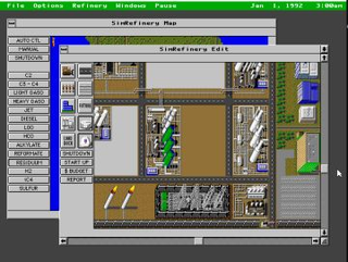 <i>SimRefinery</i> 1990s business simulation video game developed by Maxis for Chevron Corporation