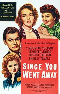 <i>Since You Went Away</i> 1944 film by John Cromwell