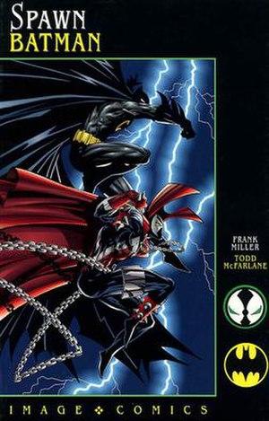 Spawn/Batman - Cover to Spawn/Batman. Art by Todd McFarlane.