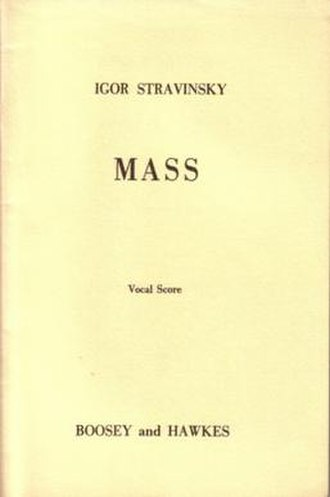 Mass (Stravinsky) - Original cover to the vocal score of the mass, published by Boosey & Hawkes
