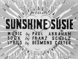 <i>Sunshine Susie</i> 1931 film by Victor Saville