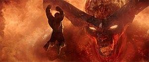 Surtur (Marvel Comics) - Hulk fighting Surtur in the 2017 film, Thor: Ragnarok.