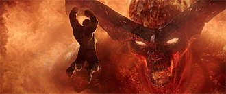 Surtur (Marvel Comics) - Hulk fighting Surtur in the 2017 film, Thor: Ragnarok.