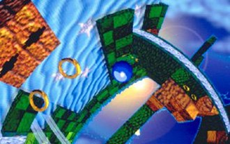Sega Saturn - A screenshot of Chris Senn and Ofer Alon's version of Sonic X-treme. The game's cancellation, and the lack of a fully 3D Sonic the Hedgehog platformer, is considered a significant factor in the Saturn's commercial failure.