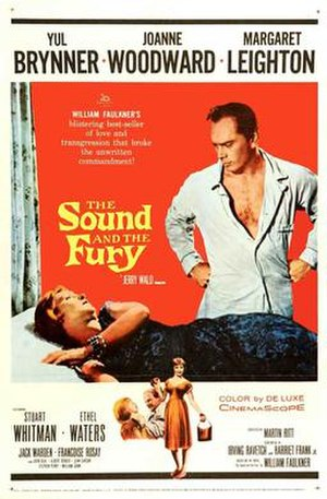The Sound and the Fury (1959 film) - Theatrical release poster
