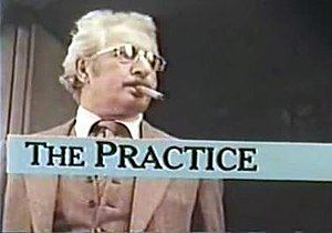 The Practice (1976 TV series) - Title card for The Practice, showing Danny Thomas as Dr. Jules Bedford.