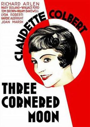 Three-Cornered Moon - Theatrical release poster