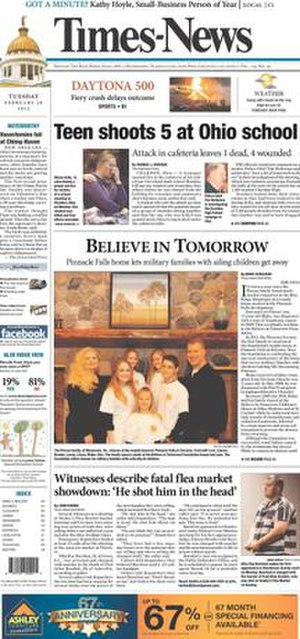 Times-News (Hendersonville, North Carolina) - Image: Times News cover