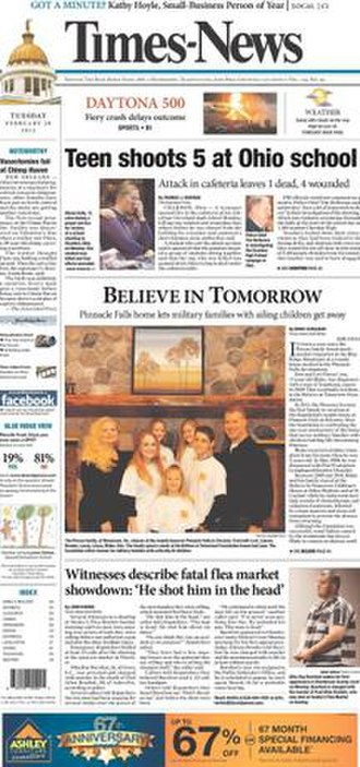 Times-News (Hendersonville, North Carolina) - Front cover on February 28, 2012
