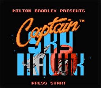 Captain Skyhawk - Title screen of Captain Skyhawk