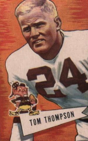 Tommy Thompson (linebacker) - Thompson on a 1952 football card