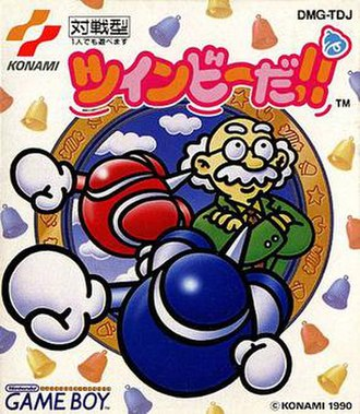 TwinBee (series) - Cover artwork of Twin Bee Da! for the Game Boy.