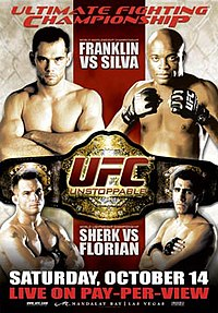 A poster or logo for UFC 64: Unstoppable.