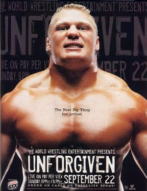 Unforgiven (2002) - Promotional poster featuring Brock Lesnar