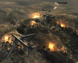 World in Conflict - Carpet bombing tactical aid