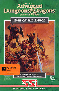 <i>War of the Lance</i> (video game) 1989 video game