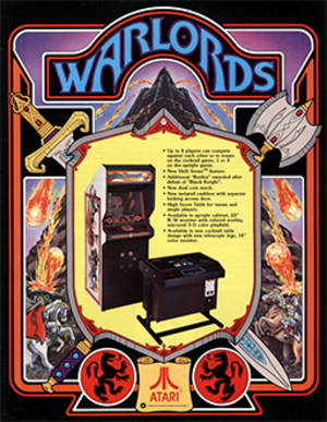 Warlords (1980 video game) - North American arcade flyer.
