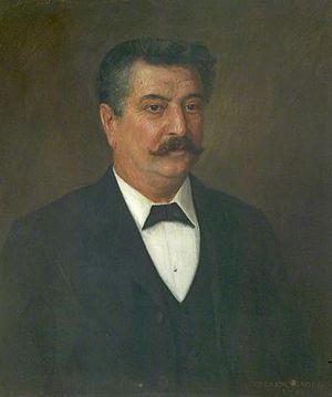 W. E. Harvey - Painting of William Edwin Harvey by Trevor Haddon