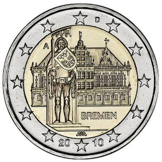 German euro coins - Image: €2 commemorative coin Germany 20101