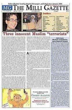 The Milli Gazette - Image: 16 31May 2010 Front Page Milli Gazette
