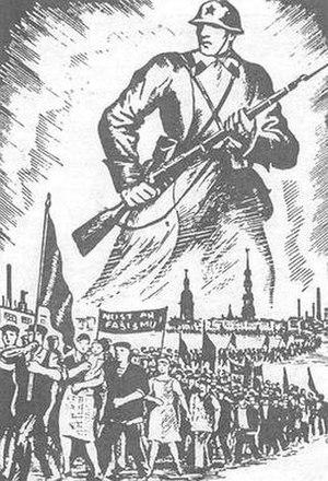 Communist Party of Latvia - 1940 LKP poster