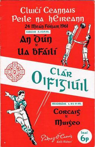 1961 All-Ireland Senior Football Championship Final - Image: 1961 All Ireland Senior Football Championship Final programme