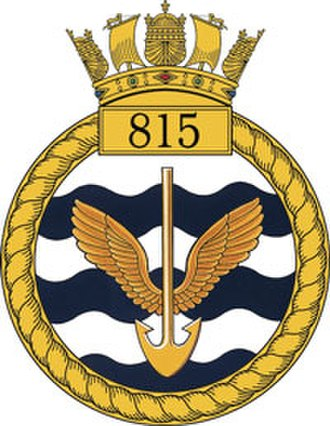 815 Naval Air Squadron - Official 815 Naval Air Squadron Badge