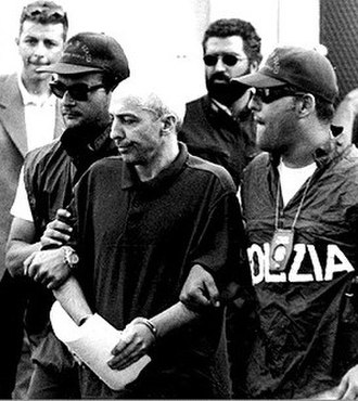 Pietro Aglieri - Arrest of Mafia boss Pietro Aglieri on June 6, 1997.