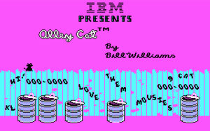 Alley Cat (video game) - IBM PC intro screen with CGA graphics