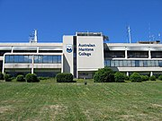 The Swanson Building at the AMC's Newnham Campus which houses the Maritime Engineering and Business programmes and the towing tank in its basement