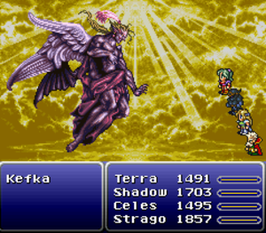 Kefka Palazzo - Kefka as the God of Magic has been compared to depictions of Lucifer
