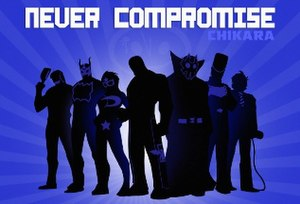 Aniversario: Never Compromise - Promotional poster for the event