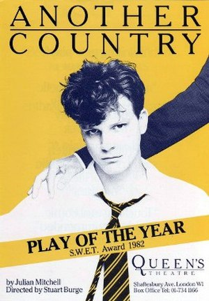 Another Country (play) - Poster for the 1983 production starring Colin Firth