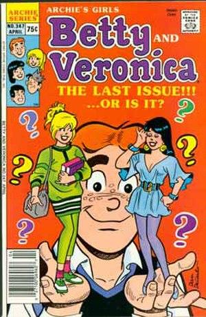 Betty and Veronica (comic book) - Image: Archiesgirlsbettyand veronica 347