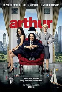 <i>Arthur</i> (2011 film) 2011 romantic comedy film directed by Jason Winer