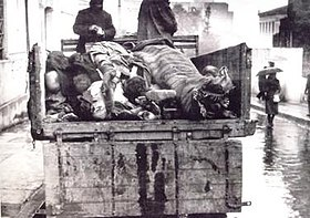 Collecting the dead in the streets of Athens, winter 1941–1942