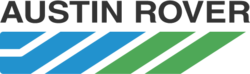 "The ""chevron"" logo of the Austin Rover Group, which originally represented all of the former British Leyland marques"