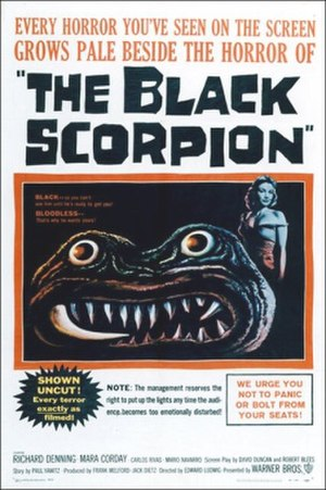 The Black Scorpion (film) - Theatrical release poster