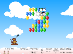 Bloons - Screenshot of the original Bloons game
