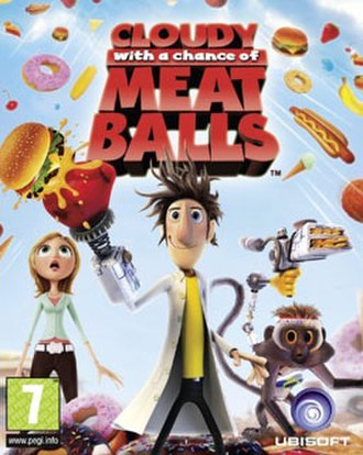 Cloudy with a Chance of Meatballs (video game) - European box art