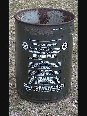 Office of Civil Defense - Office of Civil Defense Drinking Water Container