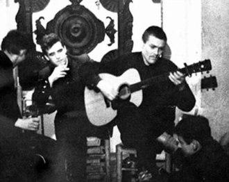 Davey Graham - Alison Chapman McLean's photograph of Davey Graham performing at The Troubadour with Louis Killen