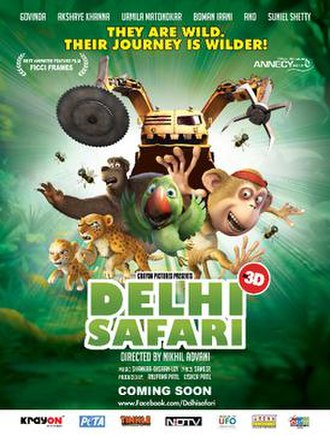Delhi Safari - Indian theatrical release poster