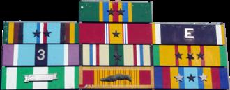 USS Dubuque (LPD-8) - Image: Dubuque Ribbons
