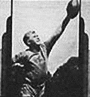 Edgar Manske - Manske image from matchbook cover, Philadelphia 1937