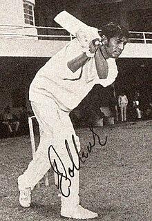 Eknath Solkar Indian cricket player.