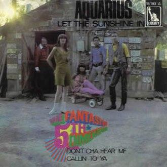 Aquarius/Let the Sunshine In - Image: Fitfh Dimension Aquarius