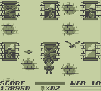 The Amazing Spider-Man (handheld video game) - One of the wallcrawling sections.