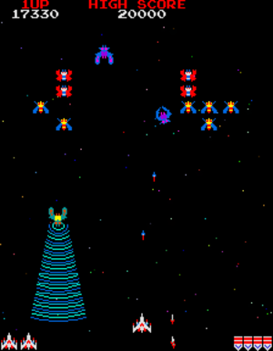 Galaga - Gameplay screenshot