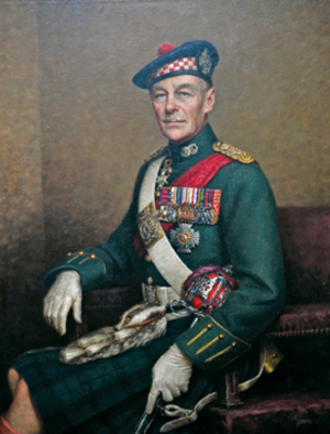 Gordon Holmes Alexander MacMillan - General Sir Gordon MacMillan – portrait by Leonard Boden, Argyll and Sutherland Highlanders Museum, Stirling Castle.